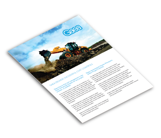 Gaea cost controls brochure