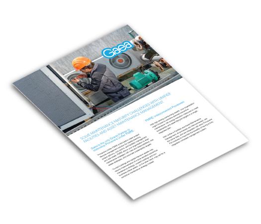 Gaea FREM asset maintenance brochure