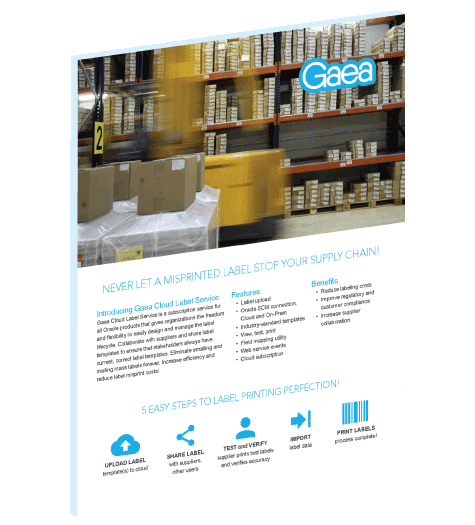 Download the Gaea Cloud Label Service Brochure