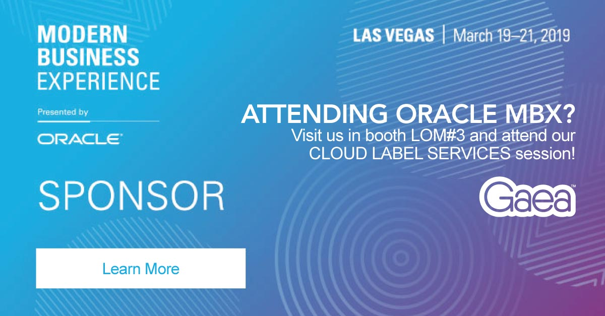 Join Gaea at Oracle MBX 2019