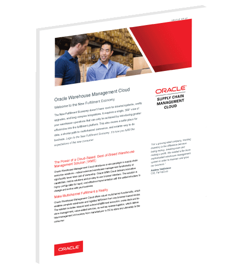 Download the Oracle WMS Cloud solution brief