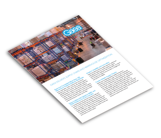 Gaea Supply Chain Execution brochure