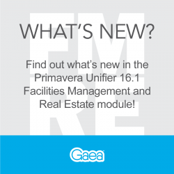 What's new in the Primavera Unifier 16.1 FMRE Module?